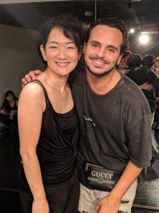 ヤニス・マーシャル先生と田中由美子